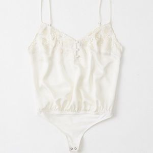 Abercrombie Embroidered Cami Bodysuit | X-Small